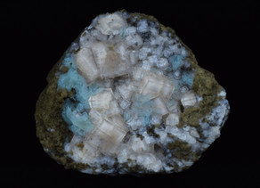 Fluorite and Calcite, Stoneco Quarry, Lime City, Ohio