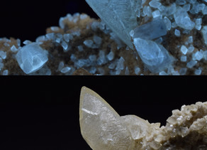 Calcite and Celestine, Stoneco Quarry, Lime City, Ohio