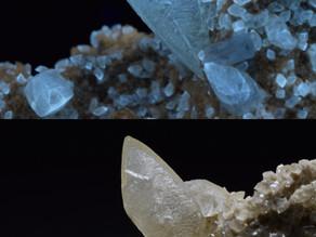 Calcite and Celestine, Stoneco Quarry, Lime City, Ohio