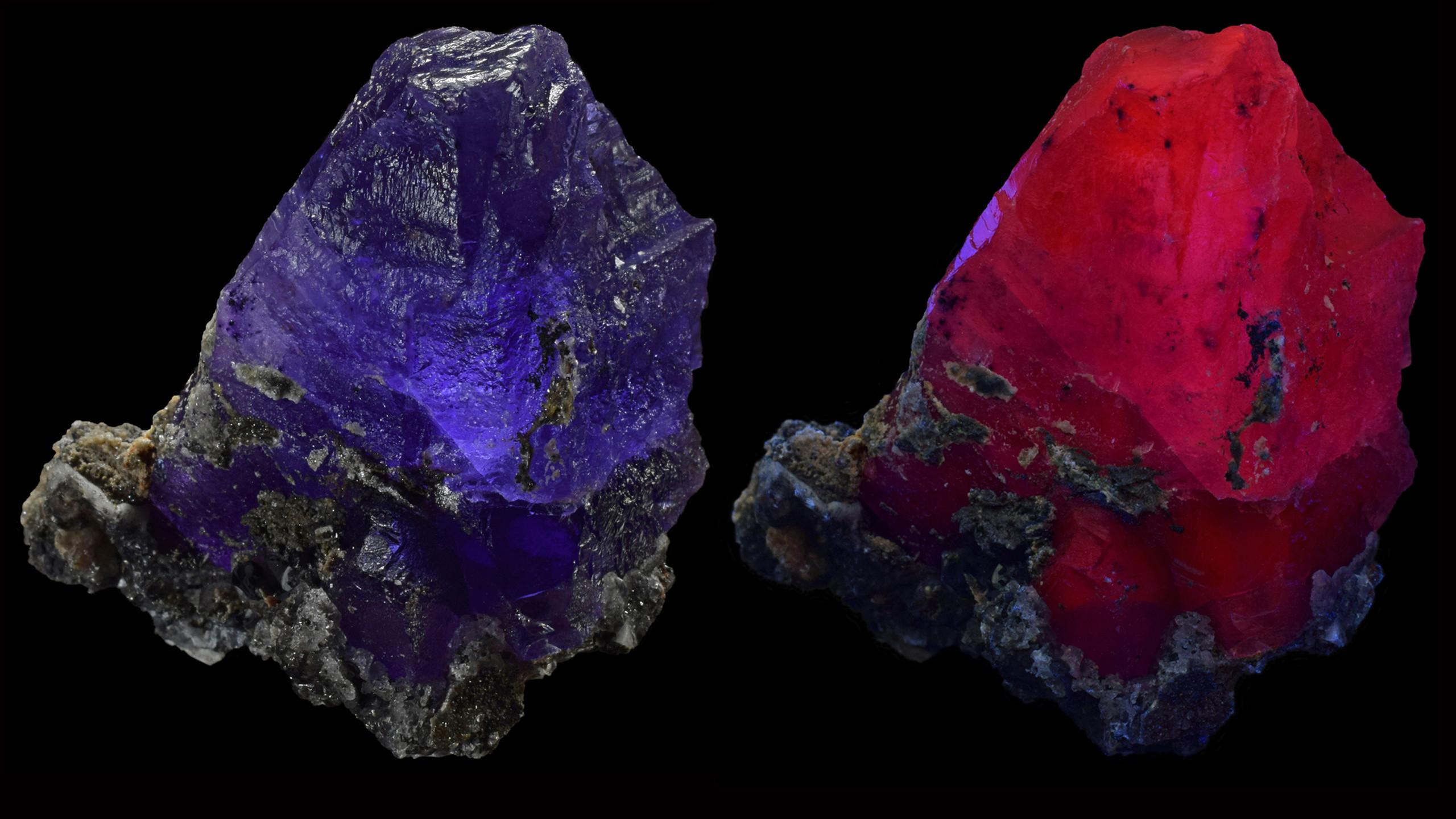Red Fluorescent Fluorite