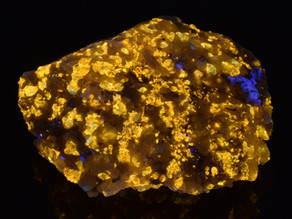 Golden Yellow Fluorescent Zircons from Saint Peters Dome, El Paso County, Colorado