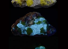 Sulfur on Calcite - Maybee, Michigan