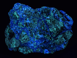 Fluorescent Smithsonite and Willemite, Third Plain Zinc Deposit, Bunkers Range, South Australia