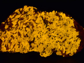 Wollastonite and Calcite, Sterling Mine, Sterling Hill, New Jersey