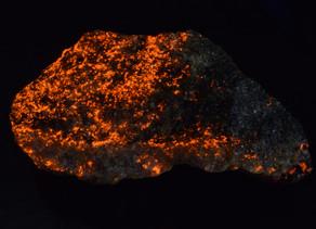 Rare Orange Fluorescent Turneaurite from Balmat, New York
