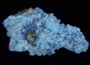 Celestine, Strontianite and Calcite, from the Stoneco Quarry, Lime City, Ohio