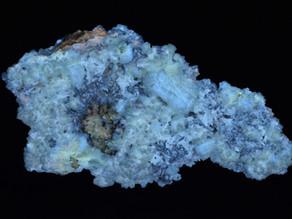 Celestine, Strontianite and Calcite, from the Stoneco Quarry, Lime City, Ohio