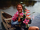 Randall Quirk in Porto Velho, Brasil collecting Caitleya Violacea Orchids, Heliconia and Ionopsis Orchids