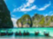 Maya Bay in Ko Phi Phi Le Island, Krabi
