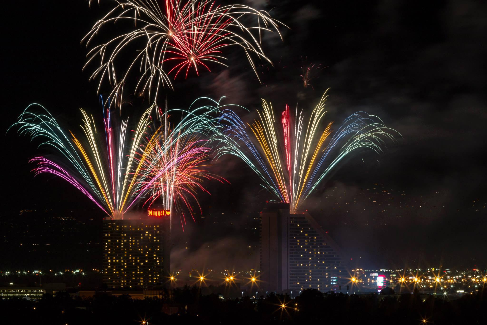 Nugget Casino Nevada Work and Travel fireworks