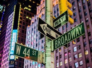 Broadway and 44st Street Signs, Manhatta