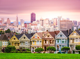 San Francisco, California cityscape at A