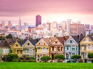 San Francisco, California cityscape at A