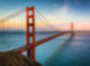 Sunset view of the Golden Gate Bridge an