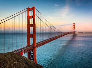 Sunset view of the Golden Gate Bridge an