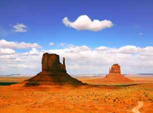 Beautiful Landscape Of  Monument Valley