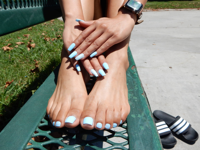 Adidas Flip Flop Feet