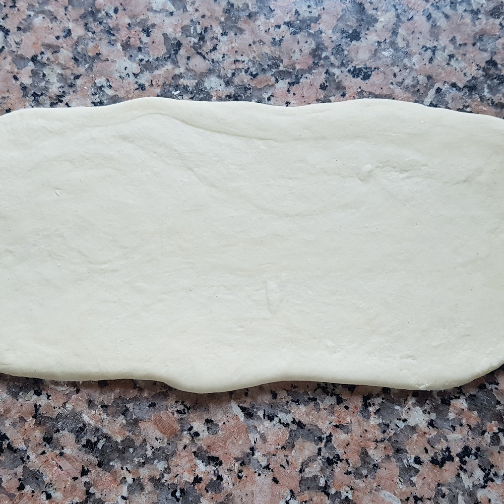 rolled out piece of dough