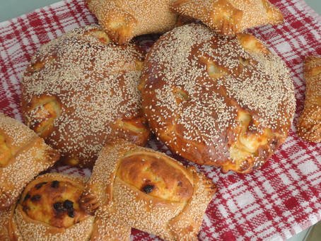 "Easter cheese breads - ""Tiropites"" and Easter cheese pies - ""Flaounes"""