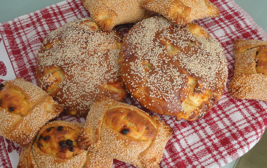 Easter cheese pies and cheese breads form Cyprus
