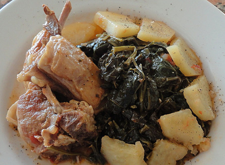 Lamb with Spinach Stew