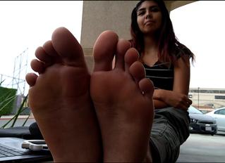 Mia's First Day of School Freshman Feet
