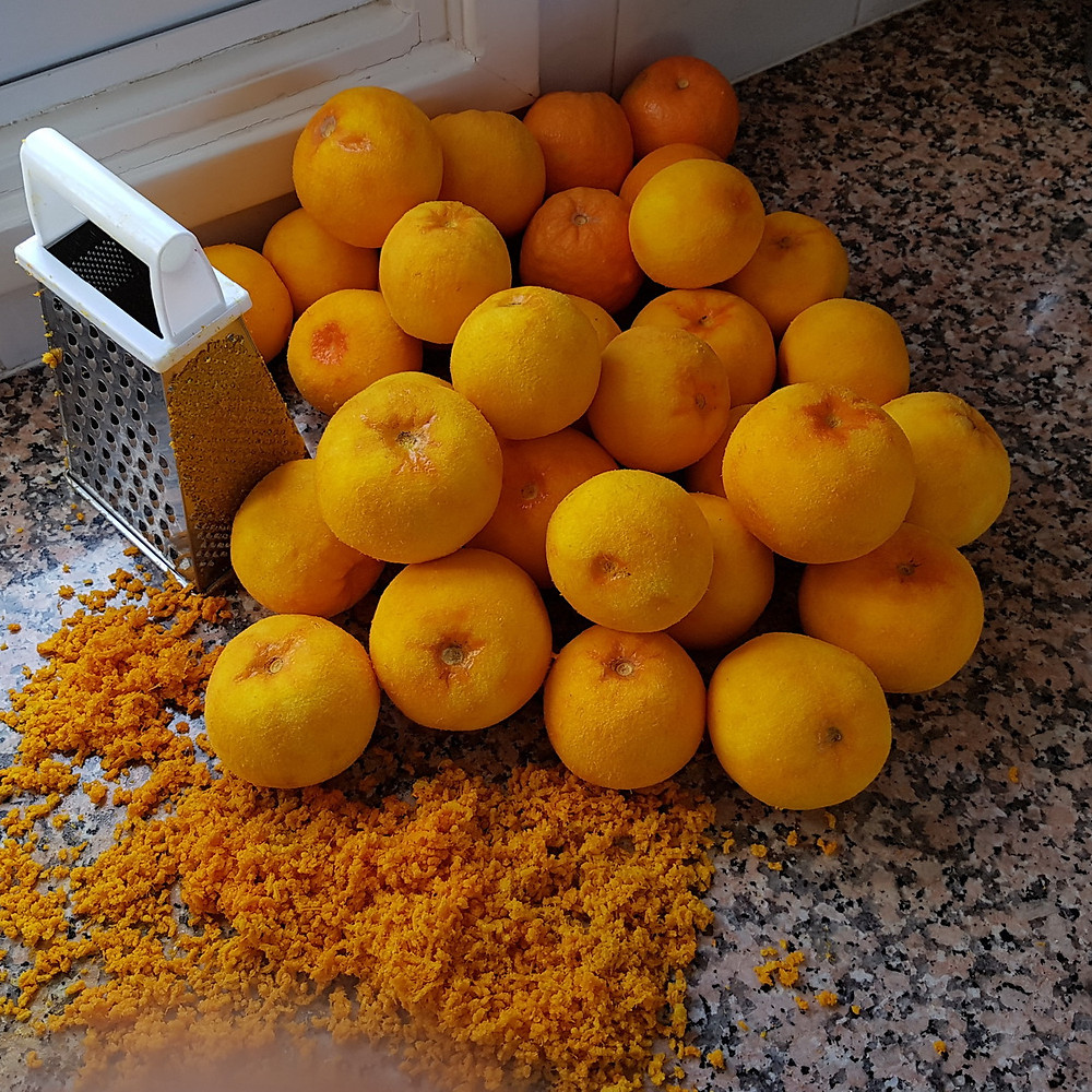 grated bitter oranges