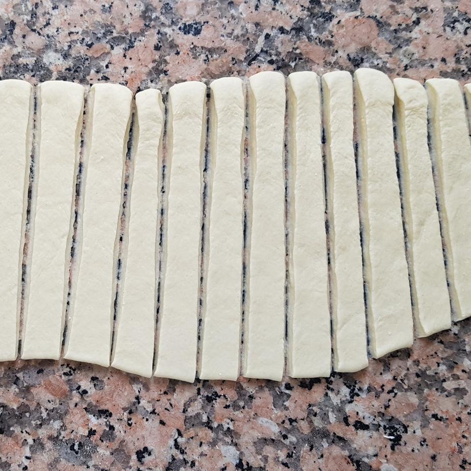 ready strips of dough