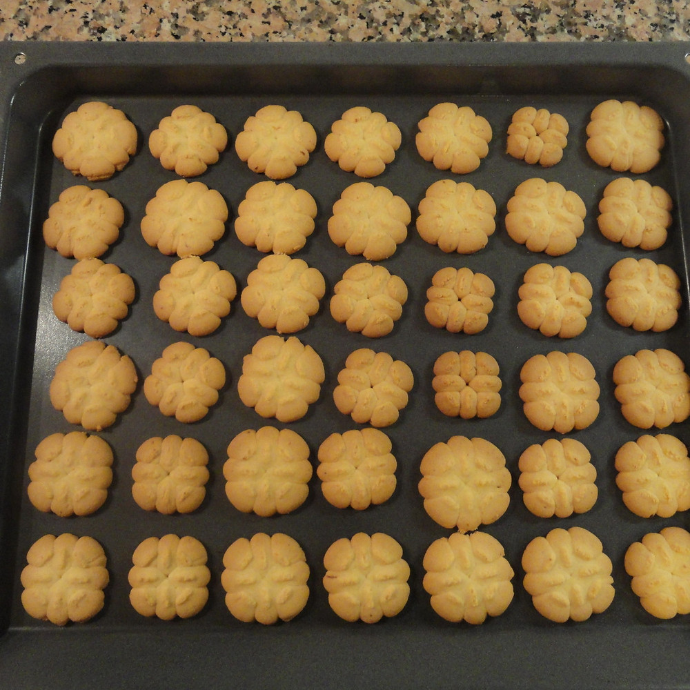 Ready baked biscuits