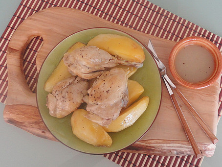 Chicken with potatoes in lemon sauce - Lemonato