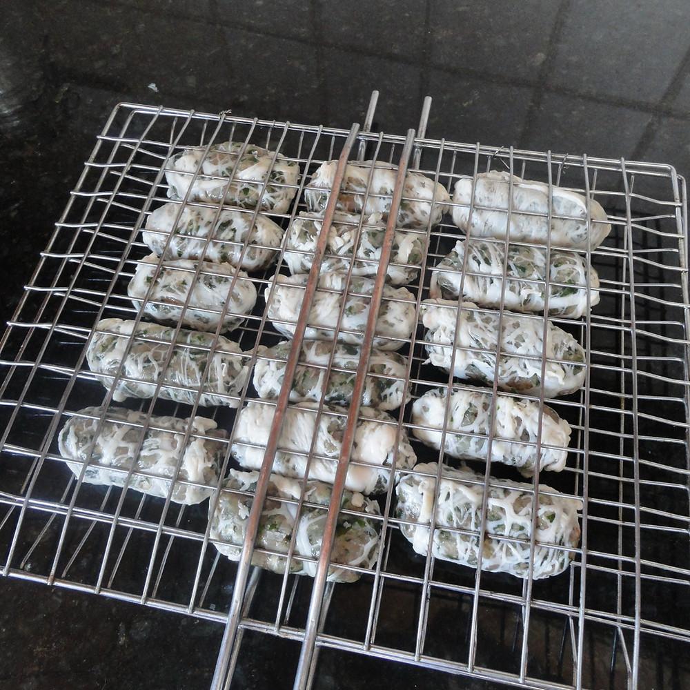 sieftalia on grill