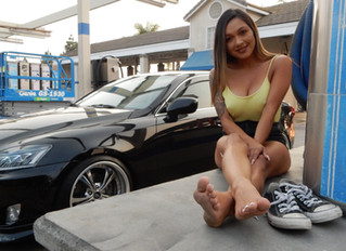 Getting A Car Show Model To Do A Foot Video