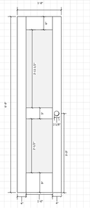 The measurements and plans for my door