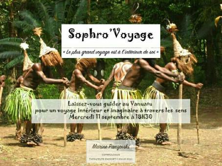 Sophro'Voyage🌏 On voyage toute l'année et dès la rentrée!