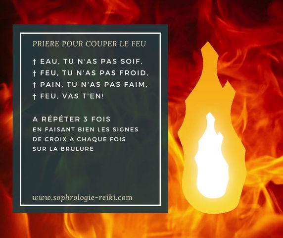 PRIERE POUR COUPER/BARRER LE FEU