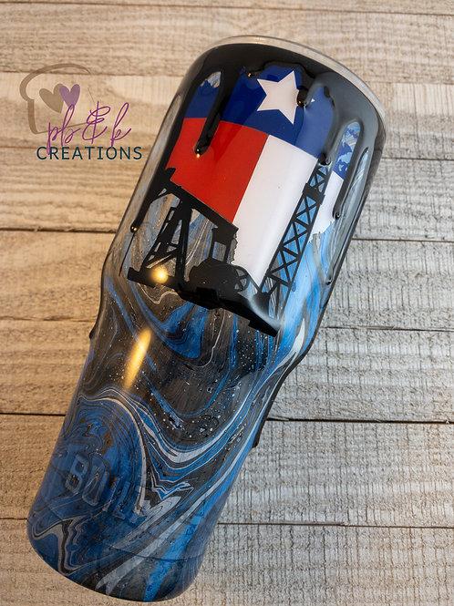 Texas Oilfield Drip Tumbler