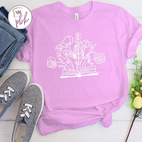 FLORAL BOOK TEE