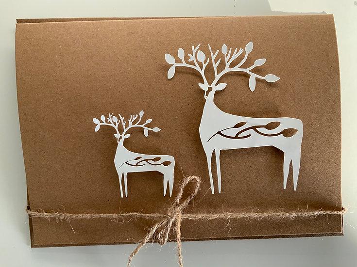 2 deer card set of2