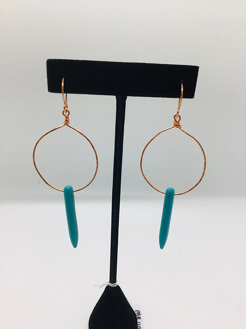 Howlite Turquoise + Copper