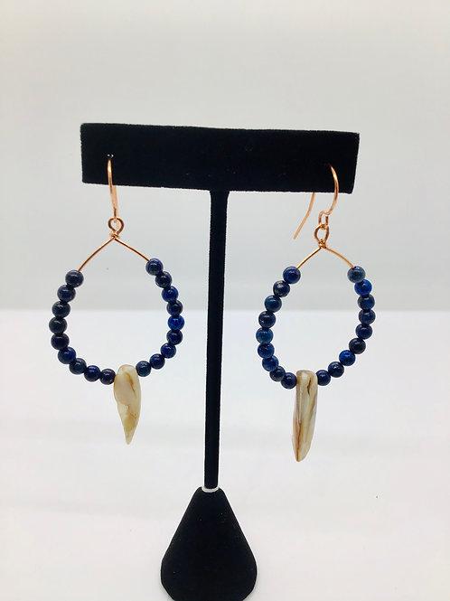 Lapis + Mother of Pearl Earrings