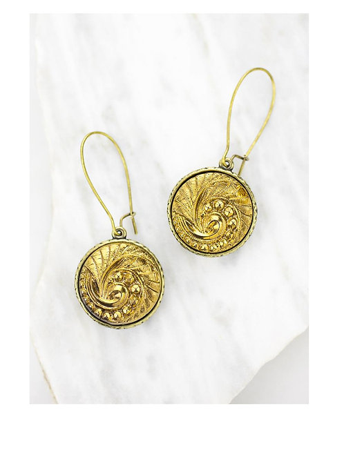 Averie Earrings- Grandmother's Buttons