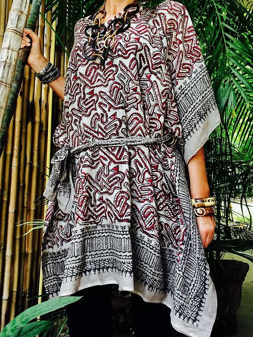 Batik-Tunika mit Band LIMITIERT