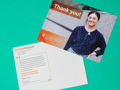 Student Thank You Card