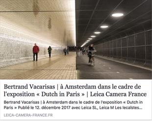 Article sur le site Leica France