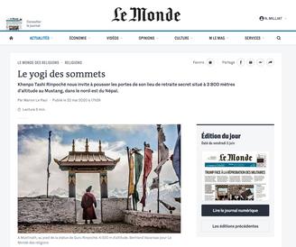 Le Monde met en ligne le reportage du Népal