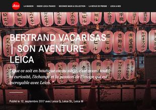 Article sur le site Leica Caméra France