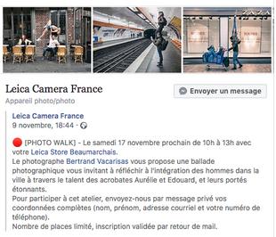 """""""Photo walk"""" pour Leica Camera France"""