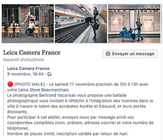 """Photo walk"" pour Leica Camera France"