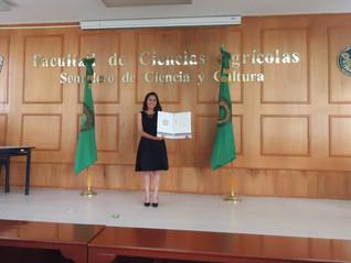 Leyvadelia Reyes Morales, apoyo de titulación