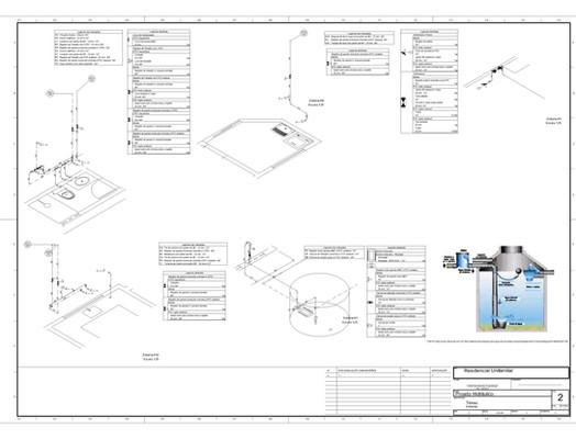 Projeto hidráulico com reaproveitamento